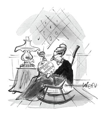 Rocking Chairs Drawing - New Yorker September 5th, 1964 by Lee Lorenz