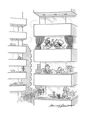 Punch Drawing - New Yorker September 5th, 1988 by Bernard Schoenbaum