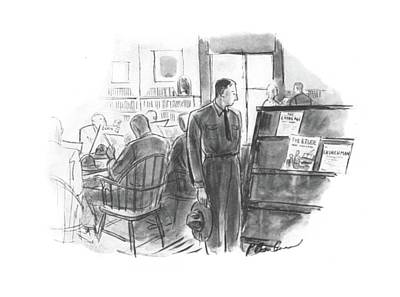 Selection Drawing - New Yorker September 6th, 1941 by Perry Barlow