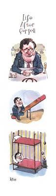 David Drawing - New Yorker September 6th, 1993 by Barry Blitt
