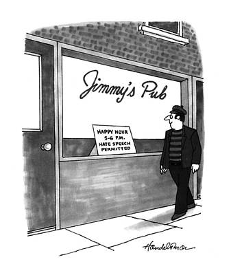 Storefront Drawing - New Yorker September 6th, 1993 by J.B. Handelsman