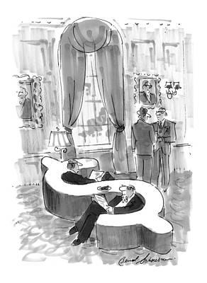 Sit-ins Drawing - New Yorker September 6th, 1999 by Bernard Schoenbaum