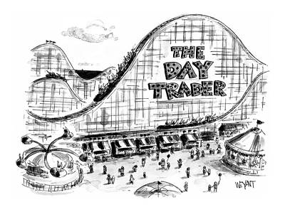 Roller Coaster Drawing - New Yorker September 6th, 1999 by Christopher Weyant