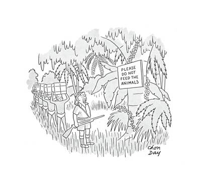 Zoo Drawing - New Yorker September 7th, 1940 by Chon Day
