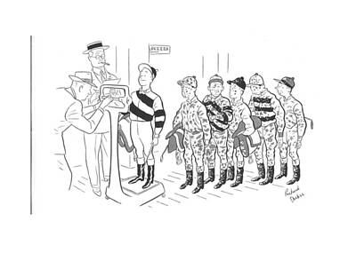 Dirt Drawing - New Yorker September 7th, 1940 by Richard Decker