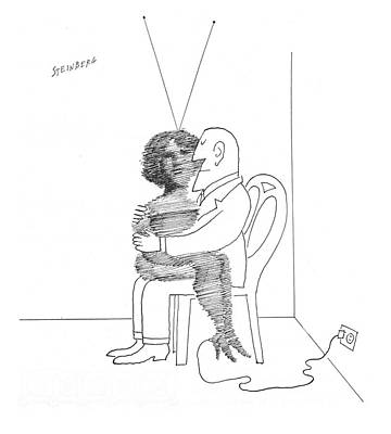 Alienation Drawing - New Yorker September 7th, 1968 by Saul Steinberg