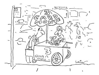 Hot Dog Stand Drawing - New Yorker September 7th, 1998 by Arnie Levin