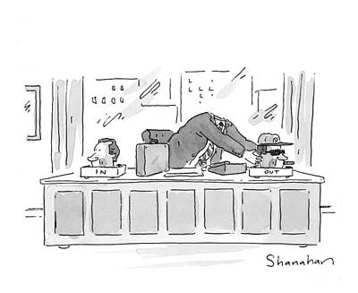 Baseball Drawing - New Yorker September 7th, 1998 by Danny Shanahan