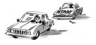 Black Humor Drawing - New Yorker September 7th, 1998 by Lee Lorenz