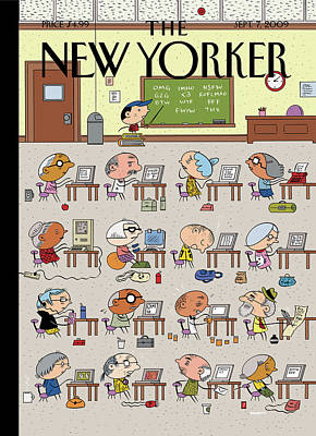 Education Painting - New Yorker September 7th, 2009 by Ivan Brunetti
