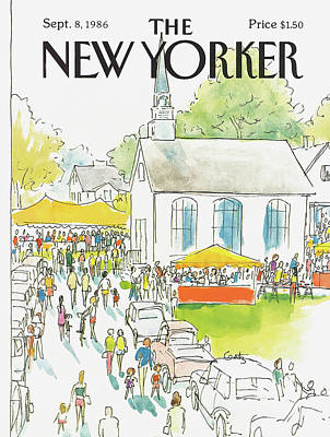 Suburban Painting - New Yorker September 8th, 1986 by Arthur Getz