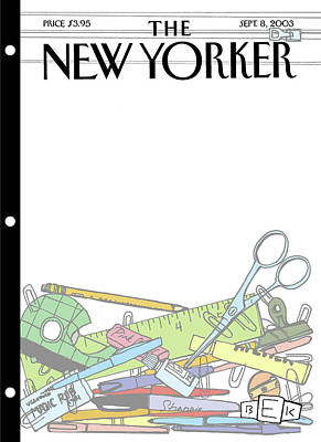 Sharpie Painting - New Yorker September 8th, 2003 by Bruce Eric Kaplan