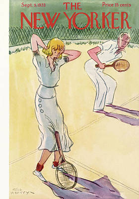 Tennis Painting - New Yorker September 9th, 1933 by Alice Harvey