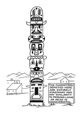 Totem Pole Drawing - New Yorker September 9th, 1944 by Otto Soglow
