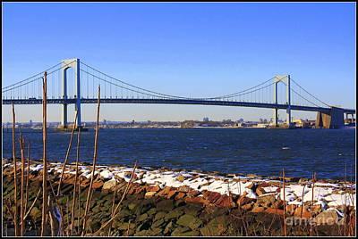 New York's Throgs Neck Bridge Art Print by Dora Sofia Caputo Photographic Art and Design