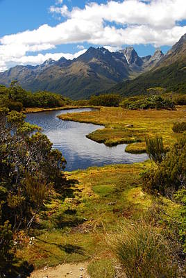 Photograph - New Zealand Alpine Landscape by Cascade Colors