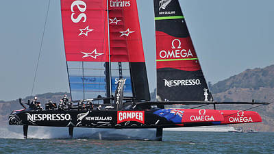 Photograph - New Zealand America's Cup by Steven Lapkin
