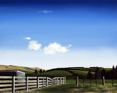 Aotearoa Painting - New Zealand Farm Gate By Linelle Stacey by Linelle Stacey