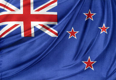 New Zealand Flag Art Print by Les Cunliffe