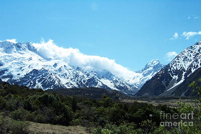 Photograph - New Zealand Mountains by John Potts