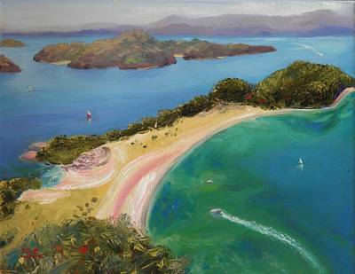 Painting - New Zealand Roberton Island by Sharon Casavant