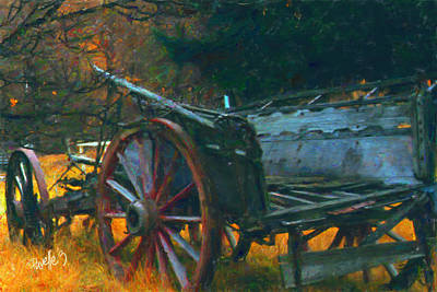 Digital Art - New Zealand Series - Arrowtown Wagon by Jim Pavelle