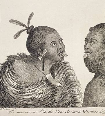 Maori Wall Art - Photograph - New Zealand Warriors by Natural History Museum, London/science Photo Library