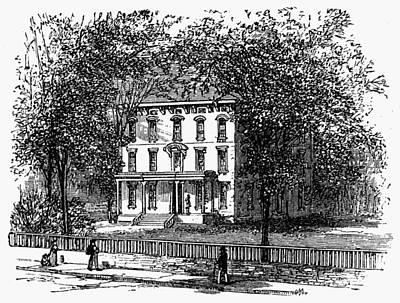 Newark Mansion, 1876 Art Print by Granger