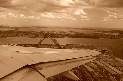 Photograph - Leaving Newark by Miguel Winterpacht