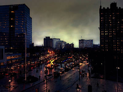 Photograph - Newark Nj Cityscape by Nina Fosdick