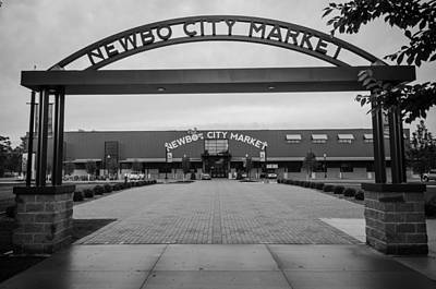 Photograph - Newbo City Market In Black And White by Anthony Doudt