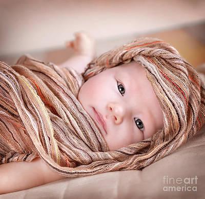 Newborn Baby Girl Art Print