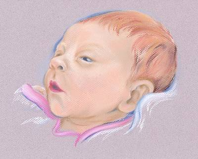 Pastel - Newborn Baby Red Head by MM Anderson