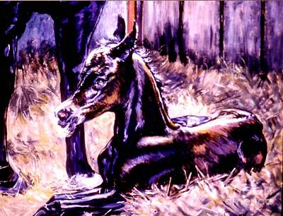 Painting - Newborn Foal by Stan Esson