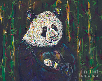 Newborn Panda Art Print by Lovejoy Creations