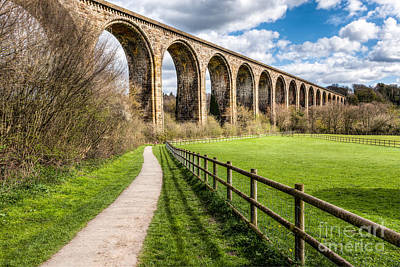 Hdr Landscape Photograph - Newbridge Viaduct by Adrian Evans