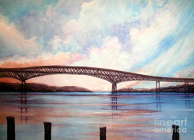 Painting - Newburgh Beacon Bridge Sky  by Janine Riley
