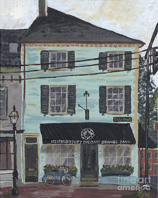 Painting - Newburyport Five Cents Savings Bank by Francois Lamothe