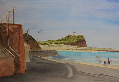 Painting - Newcastle Nsw Australia by Tim Mullaney
