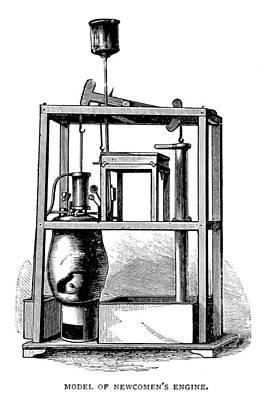 Steam Turbine Wall Art - Photograph - Newcomens Steam Engine, 18th Century by British Library