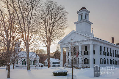 Photograph - Newfane Village In Snow by Susan Cole Kelly