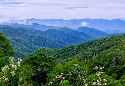 Photograph - Newfound Gap Overlook by Carolyn Derstine