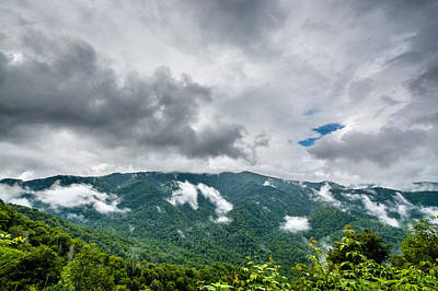 Photograph - Newfound Gap by Randy Scherkenbach