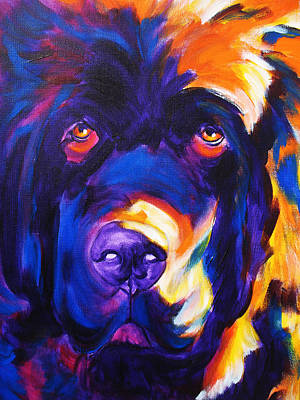 Dawgart Painting - Newfoundland - Zora by Alicia VanNoy Call