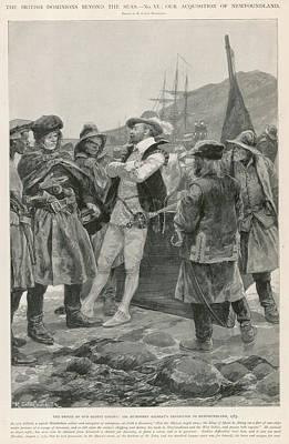 Newfoundland Drawing - Newfoundland Is Established By Sir by  Illustrated London News Ltd/Mar
