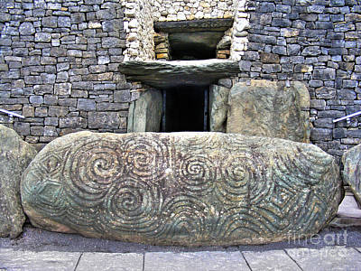 Photograph - Newgrange Entrance 2 by Nina Ficur Feenan