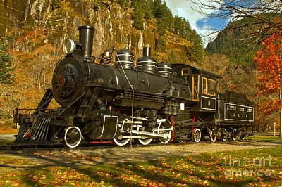 Photograph - Newhalem Train by Adam Jewell