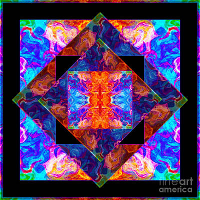 Newly Formed Bliss Mandala Artwork Art Print