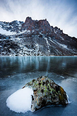 Photograph - Frozen Mountain Lake by Tim Newton