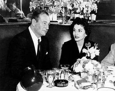1950s Candids Photograph - Newlyweds John Wayne, Left by Everett